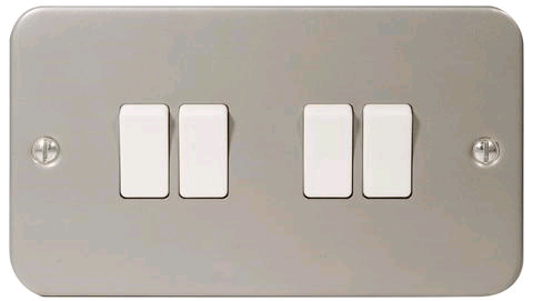 BG Metal Clad 4gang 2way Switch