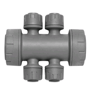 Polypipe Polyplumb Double Sided Manifold 22mm x 10mm 4port