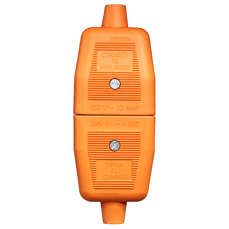 BG 13a Through Connector 2 Pin Orange