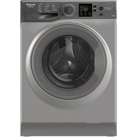 Hotpoint NSWE743UGG Washing Machine 7kg 1400 Spin Speed in Graphite