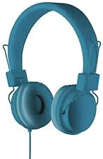 Goodmans Blue Headphones with Mic and Volume Control
