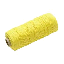 Faithfull Hi Vis Nylon Brick Line 105m (344ft) Yellow