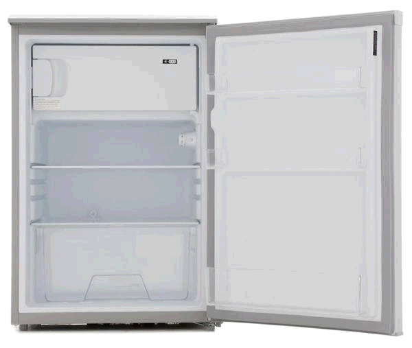 Lec Undercounter Fridge 113ltr c/w Freezer Box in Silver H845 W553