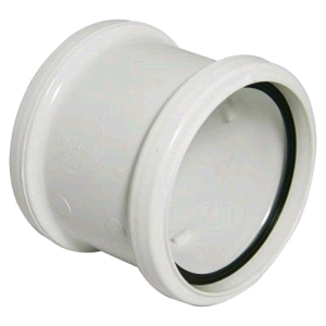 Floplast Soil Pipe 110mm Coupling White Double Socket