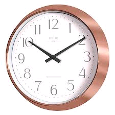 Acctim Shelby Wall Clock in Copper