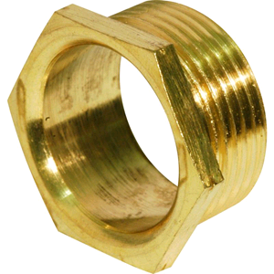 Brass Hex Bush 1 x 1/2""