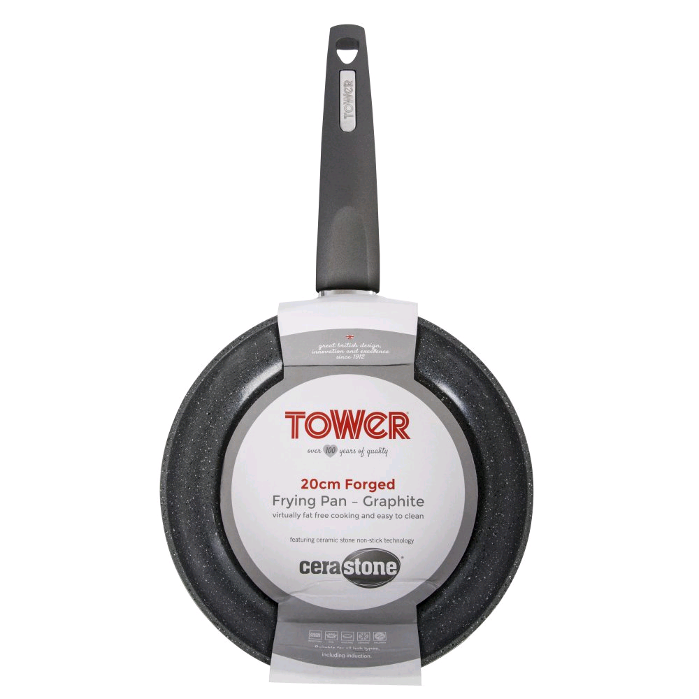Tower 20cm Forged Fry Pan Graphite - Cerastone