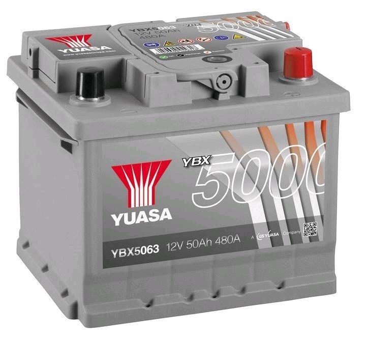 Yuasa 12V 50Ah 480A Silver High Performance Battery