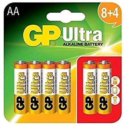 GP AA Batteries Ultra Alkaline Pack of 12