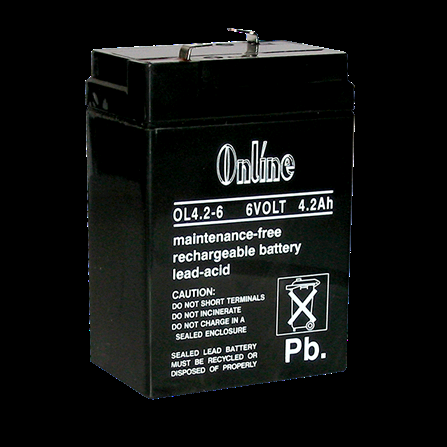 Battery Rechargeable 6V 4.2AH LY11-034-19