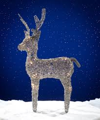 TRIFLORA LED01803 GREY REINDEER 80 WARM WHITE LED DUAL POWER 80CM