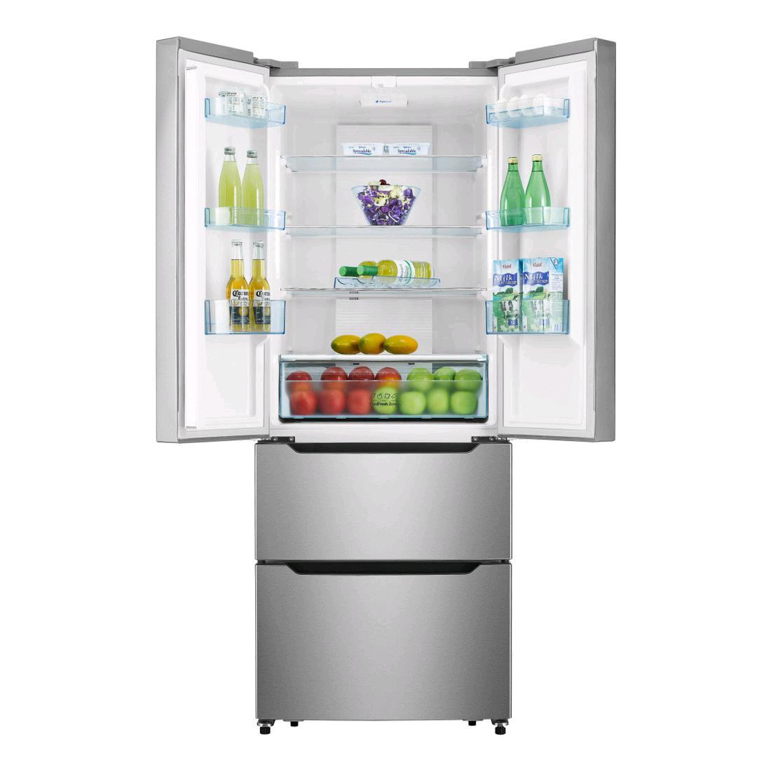 HISENSE Side by Side F/Free Fridge Freezer(2 Freezer drawer)