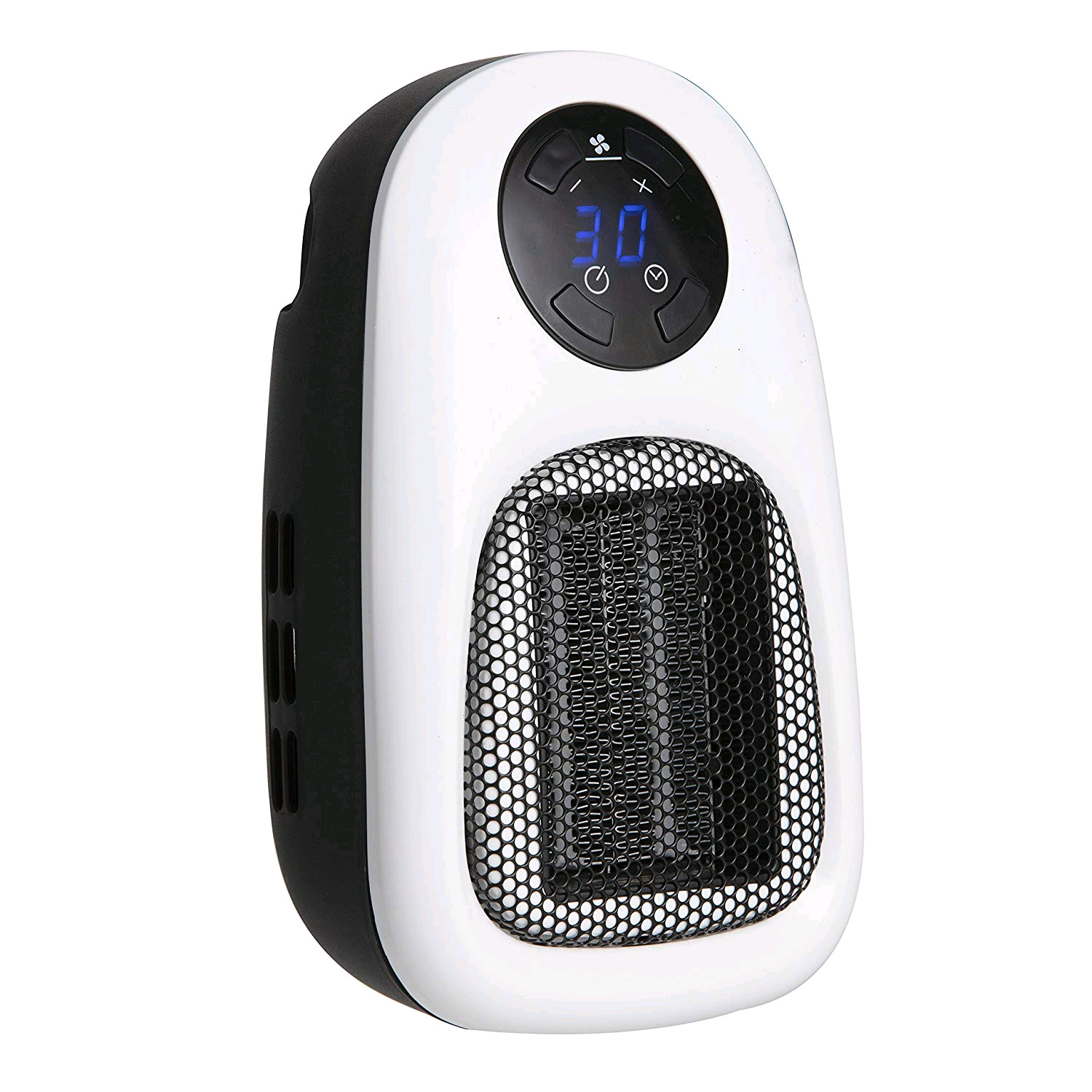 Warmlite Personal Portable PTC Heater Digital Plug In With LED Display 500w Black/White
