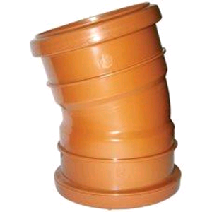 Underground 110mm 15deg Double Socket Bend Terracotta D567 SOIL