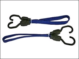 Faithfull Flat Bungee Cord 46cm (18in) Blue 2 Piece