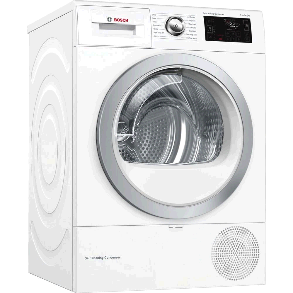 Bosch Condenser Heat Pump Tumble Dryer 9kg Self Cleaning