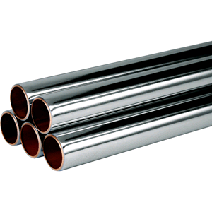 Copper Tube Chrome Plated 22mm x 3mtr
