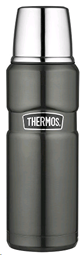 Thermos King Flask 470ml Stainless Steel Gunmetal
