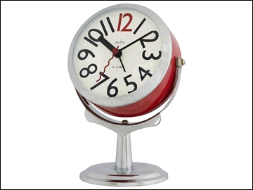 Acctim 0021764 Podium Quartz Alarm Clock Red