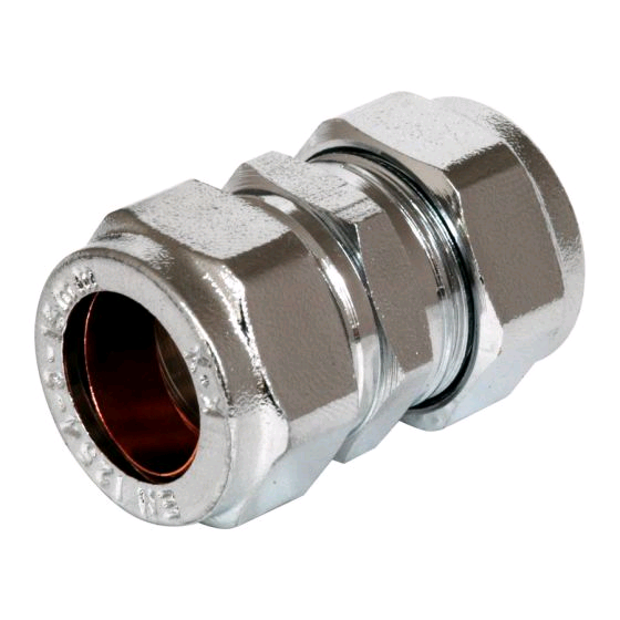 Chrome Coupling 15mm Compression