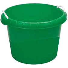 Draper 45L Plastic Rope Bucket Green