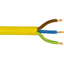 Artic Yellow Flex 1.5mm 3Core (per mtr)