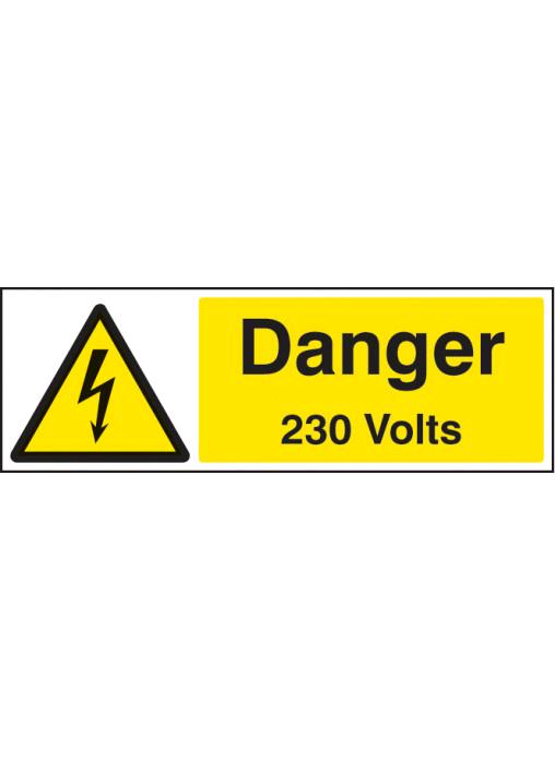 Industrial Signs Danger 230V Large Label