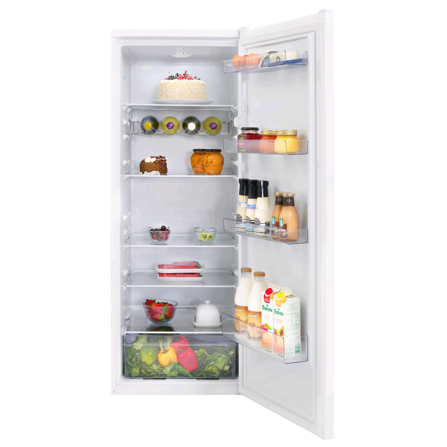 Beko Upright Larder Fridge 252Ltr H1450 W545