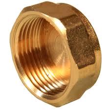 "Brass 1 1/4"" Blank Cap"
