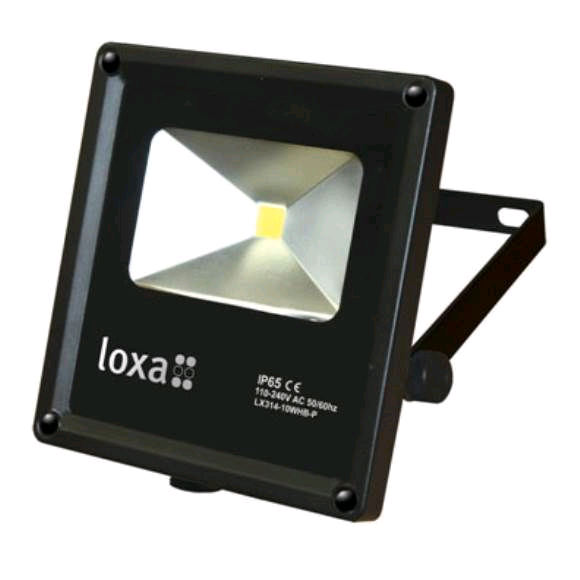 Loxa 10W LED NW Plug & Play Floodlight Black