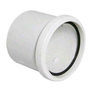 Floplast Soil Pipe 110mm Coupling White Single Socket