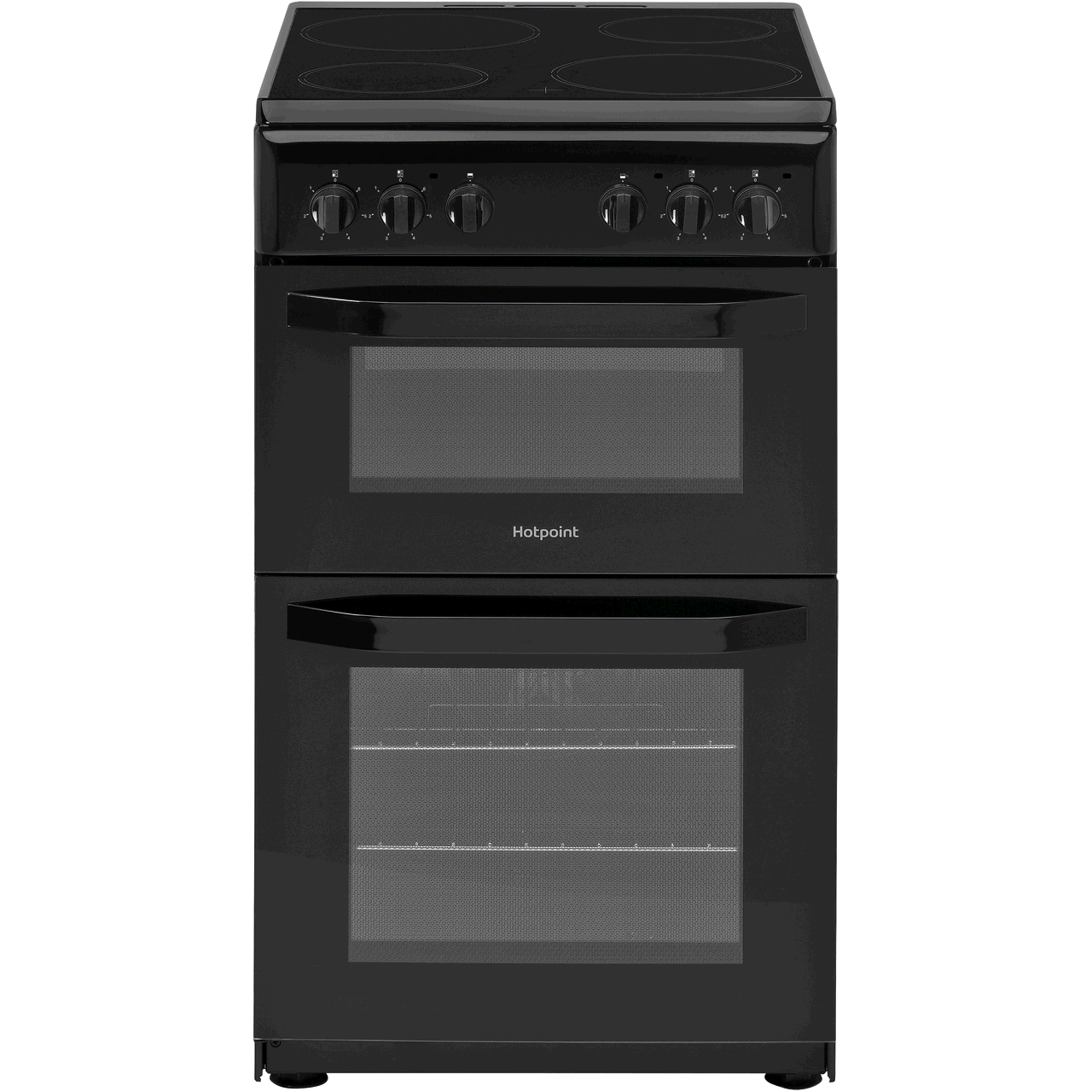 Hotpoint Cloe HD5V92KCB 50cm Electric Cooker with Ceramic Hob - Black B Rated