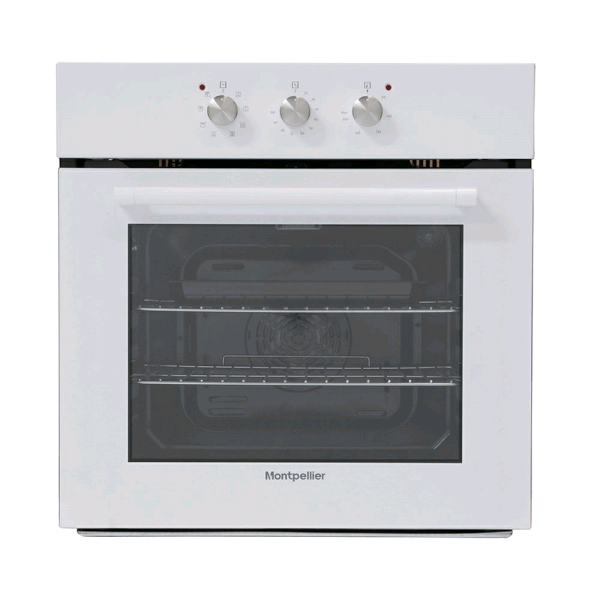 Montpellier SFO65MW 65ltr Multifunction Single Oven Built In White