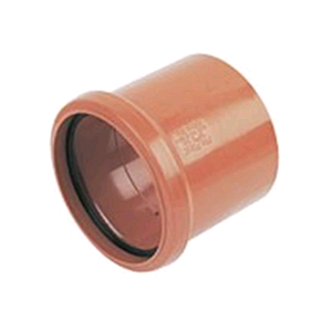 Underground 110mm Coupling Single Socket Terracotta D124 SOIL