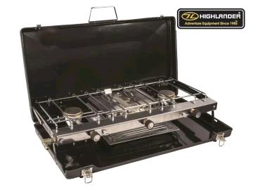 HIGHLANDER 2690783 Folding Double Burner & Grill GAS046