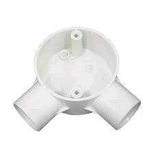 Falcon Conduit Angle Box 25mm White