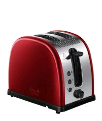 Russell Hobbs Legacy 2 Slice Toaster Polished Stainless Red