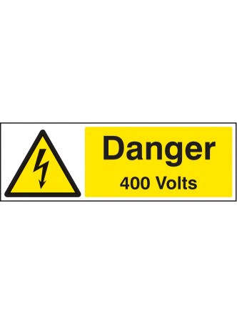 Industrial Signs Danger 400V Large Label