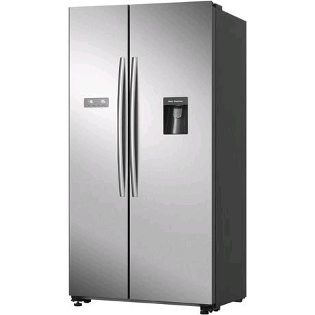 Hisense American Style Fridge Freezer in Stainless Steel  H1780 W900