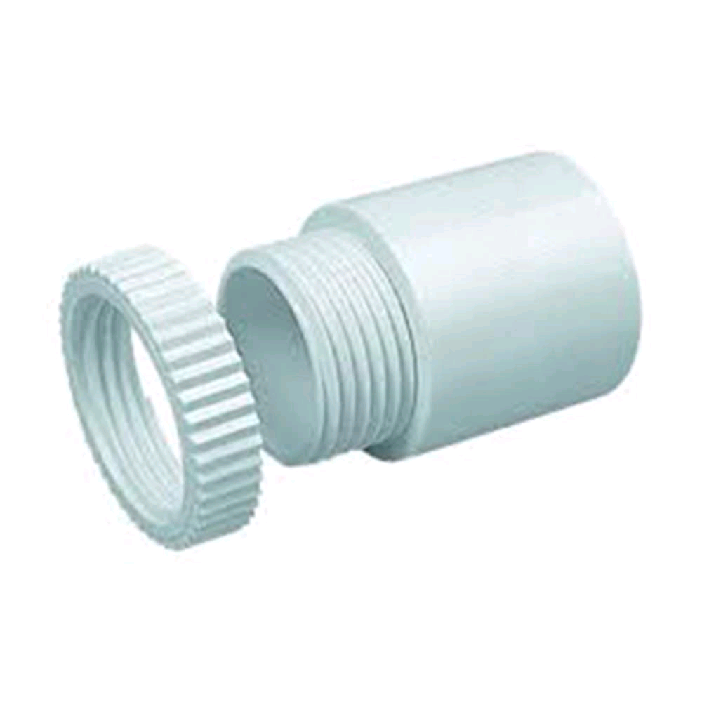 Falcon Conduit Male Adaptor 20mm White