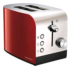 Moprhy Richards 2 Slice Toaster Red Equip