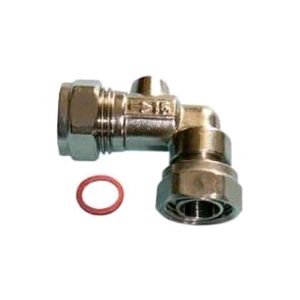 Chrome Angled Service Valve 15mm