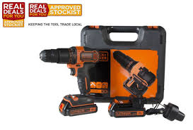 Black & Decker 18V Li-Ion Combi Drill c/w 2 Batteries