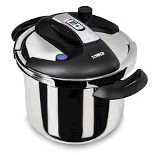 TOWER T90107 ONE TOUCH PRESSURE COOKER 4LTR HALF RRP