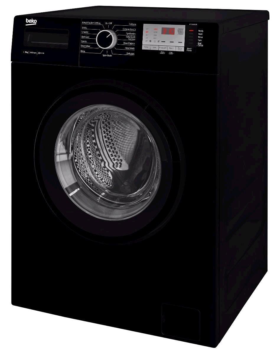 Beko Washing Machine 8kg 1400 Spin Speed Black A+++ Energy Rating