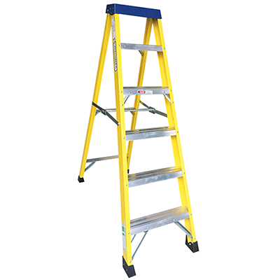 Greenbrook F/Glass 5Step + 1 Stepladder