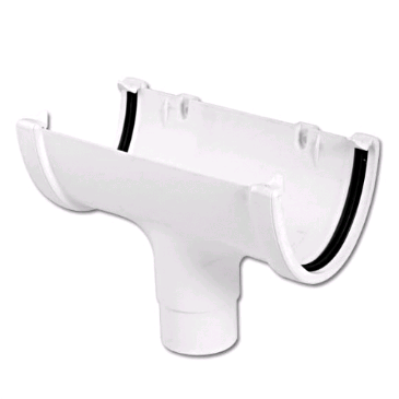 Floplast Hi-Cap Running Outlet Guttering White ROH1W