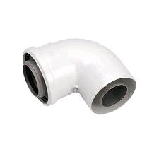 Viessmann 87° Flue Elbow 60 - 100mm