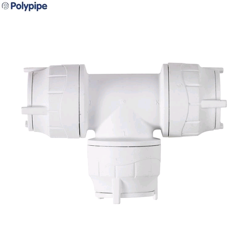 Polypipe PolyFit 28mm Equal Tee Coupler