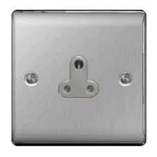 BG 1g 5a Unswitched Socket Brushed Steel